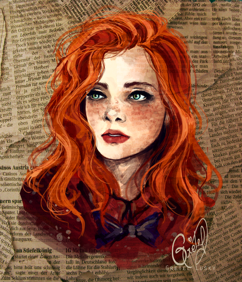 ginger girl drawing - google search | illustrations | pinterest