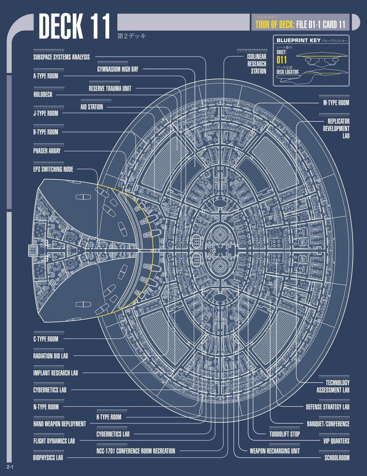 Uss enterprise ncc 1701 d galaxy class saucer separation r flickr - Blueprint Schematic Of Deck Eleven Of Saucer Section From U Enterprise D
