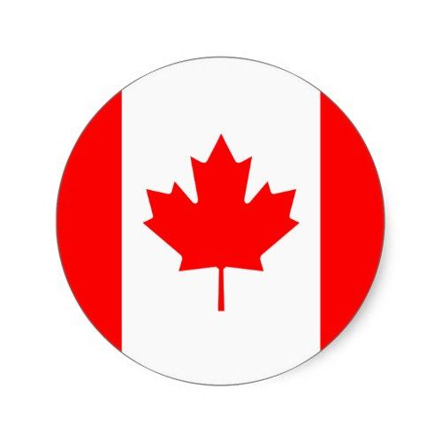 Canada Flag Sticker Zazzle Com In 2021 Canada Flag Canadian Flag Flag Printable