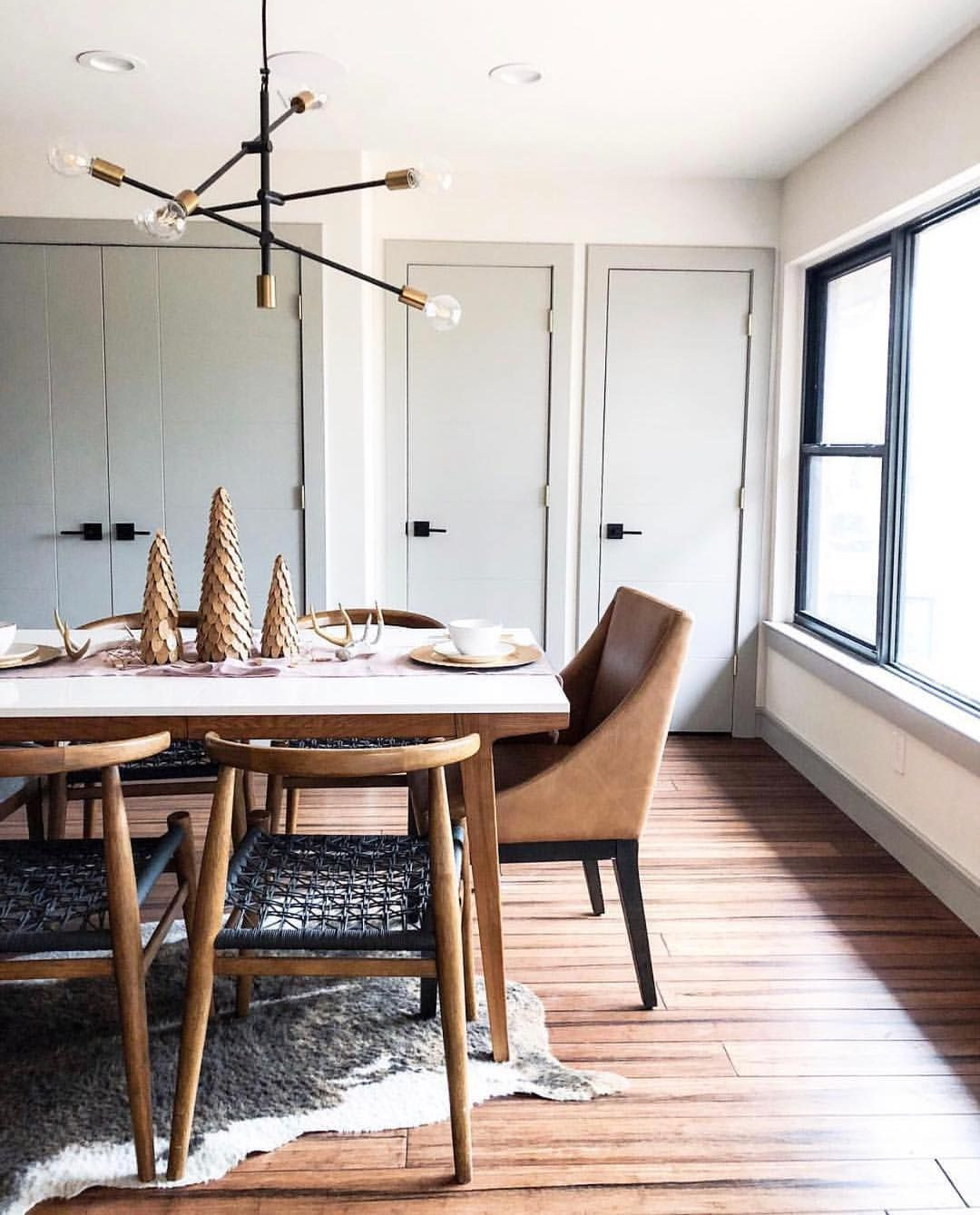 "west elm dining room | west elm | Phoenix on Instagram: ""Modern Dining table x ..."