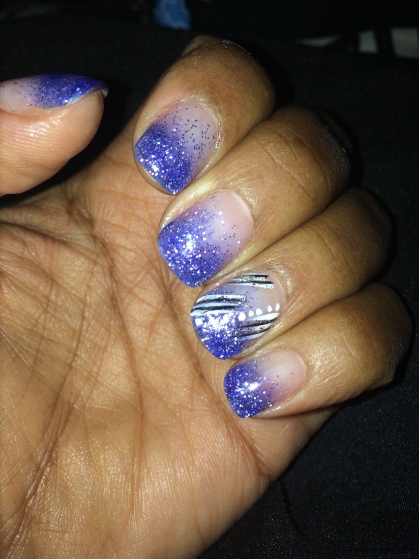 Fun Purple Ombré Nails Nexgen With Abstract Design On Ring Fingers Natalie