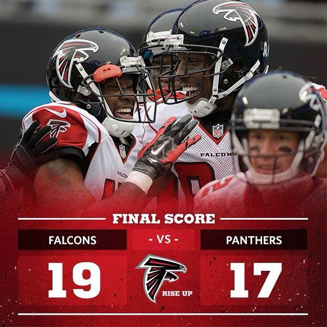 What A Game Falcons Win And Take Over First Place In The Nfc South Atlvscar Riseup Falcons Football Falcons Rise Up Atlanta Falcons