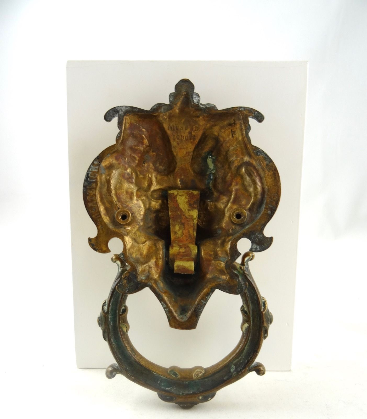 ORIGINAL GERMAN ART NOUVEAU HEAVY BRONZE DOORKNOCKER BERLIN ABOUT 1900  DEVIL | Antiques, Periods & - ORIGINAL GERMAN ART NOUVEAU HEAVY BRONZE DOORKNOCKER BERLIN ABOUT