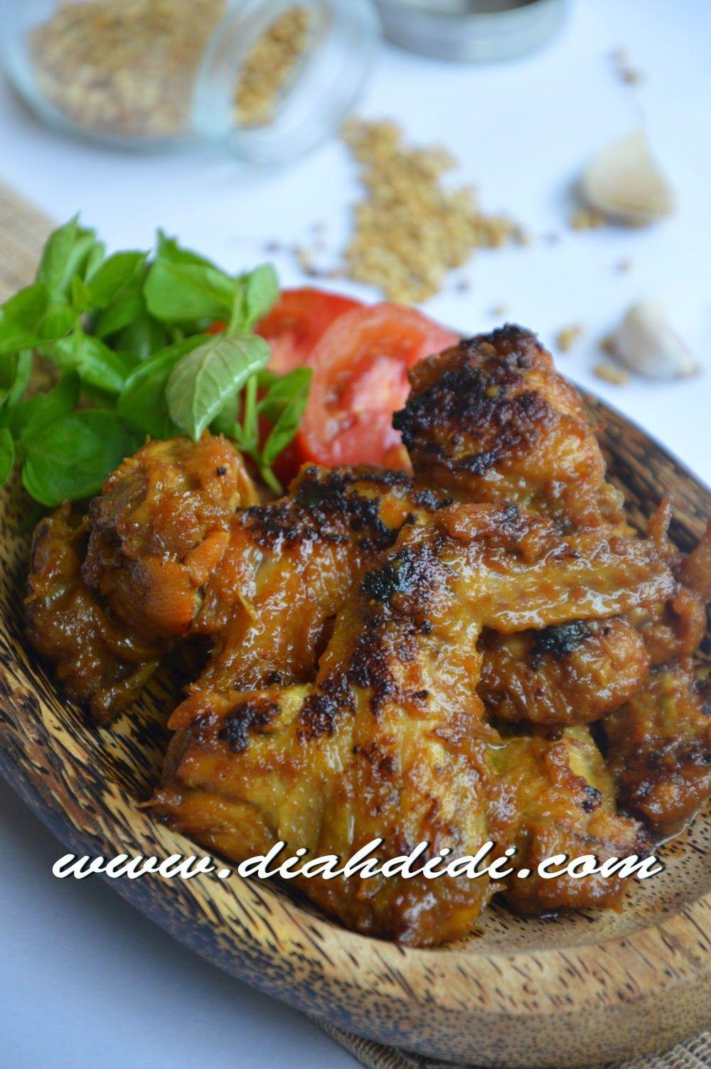 Diah Didi S Kitchen Ayam Bakar Bumbu Opor Resep Masakan Makan Malam Masakan