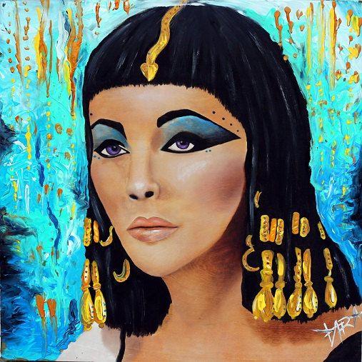 Cleopatra, Cleopatra Painting, Lix Taylor, Elizabeth Taylor, Art, Andy  Warhol, Nice Design