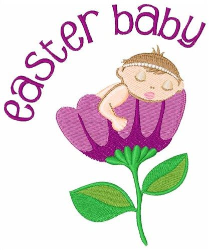 Easter Baby Embroidery Design Annthegran Easter Embroidery