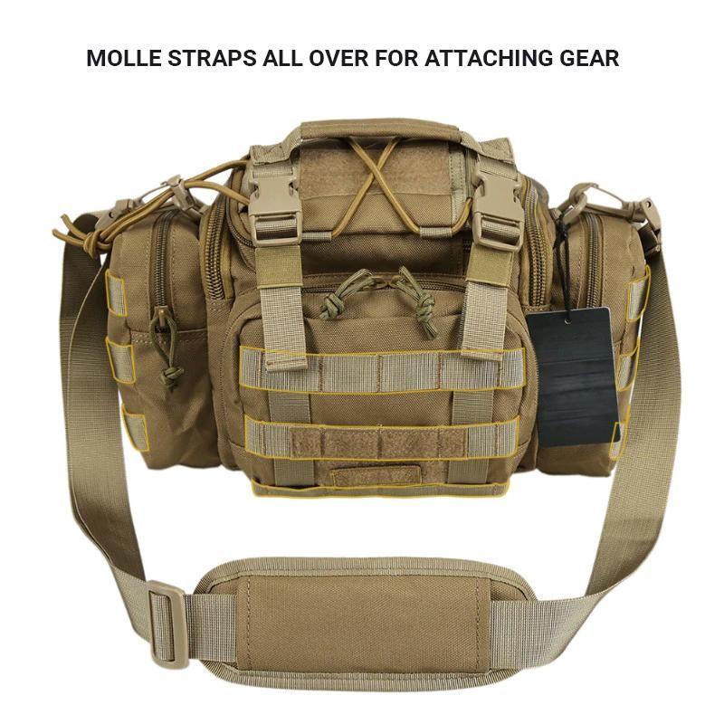Tactical MOLLE Waist Pack Multi-Function Modular Utility Bag Heavy Duty  Waist Bag Shoulder Bag Travel Handbag - Black or Khaki e9ef414e697d3