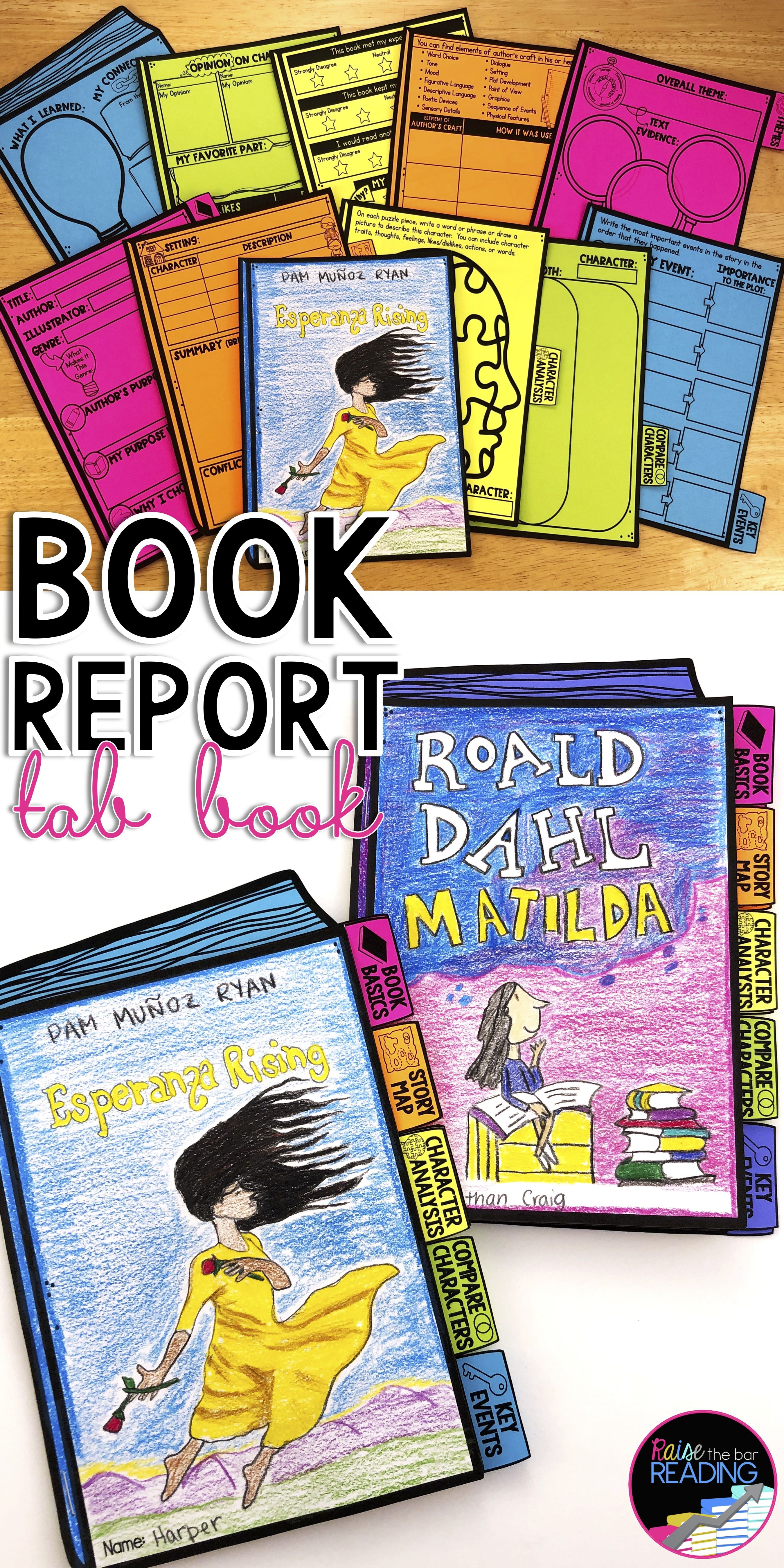 Book Report Tab Book, Fiction Reading Response Graphic