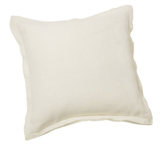 Pottery Barn Pillow Covers 20x20: Linen With Silk Trim Pillow Cover