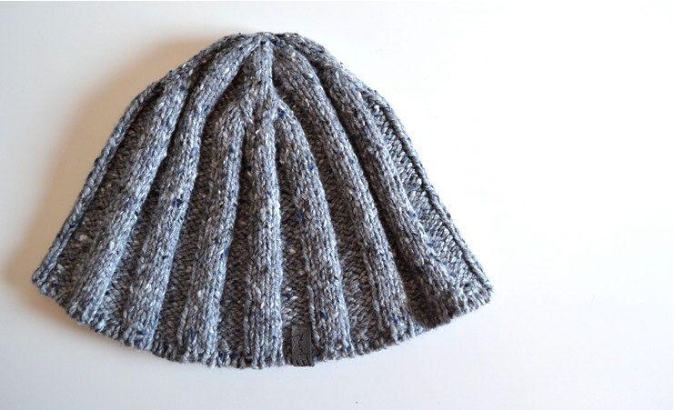 4f42103146e7c hand-knit merino + silk + cashmere - rib mens skull hat