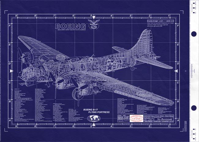 Boeing b 17 flying fortress blueprint stuff pinterest aircraft boeing b 17 flying fortress blueprint malvernweather Gallery