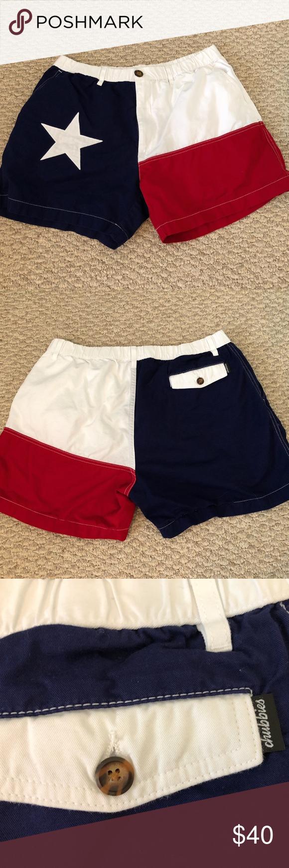 Chubbies Mens Shorts Texas Flag Xl Mens Shorts Chubbies Shorts Shorts