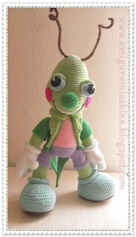 Cricket crochet pattern - Free: | Virkat | Pinterest | Tiere häkeln ...