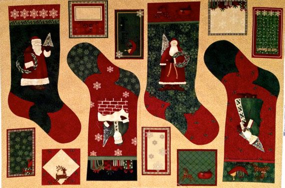 Christmas Stocking Fabric Panels