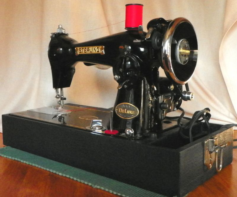 The Sterling Sewing Machine Was Made In Japan In The 1950s Before The Advent Of Planned Obsolescence And It S Built To L Vintage Sewing Sewing Sewing Machine