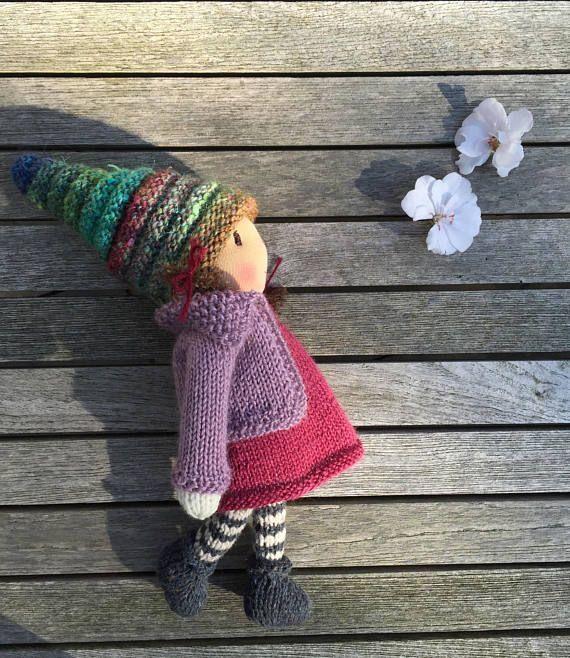 """Waldorf doll, Waldorf knitted doll 10"""" - Emma ..."""