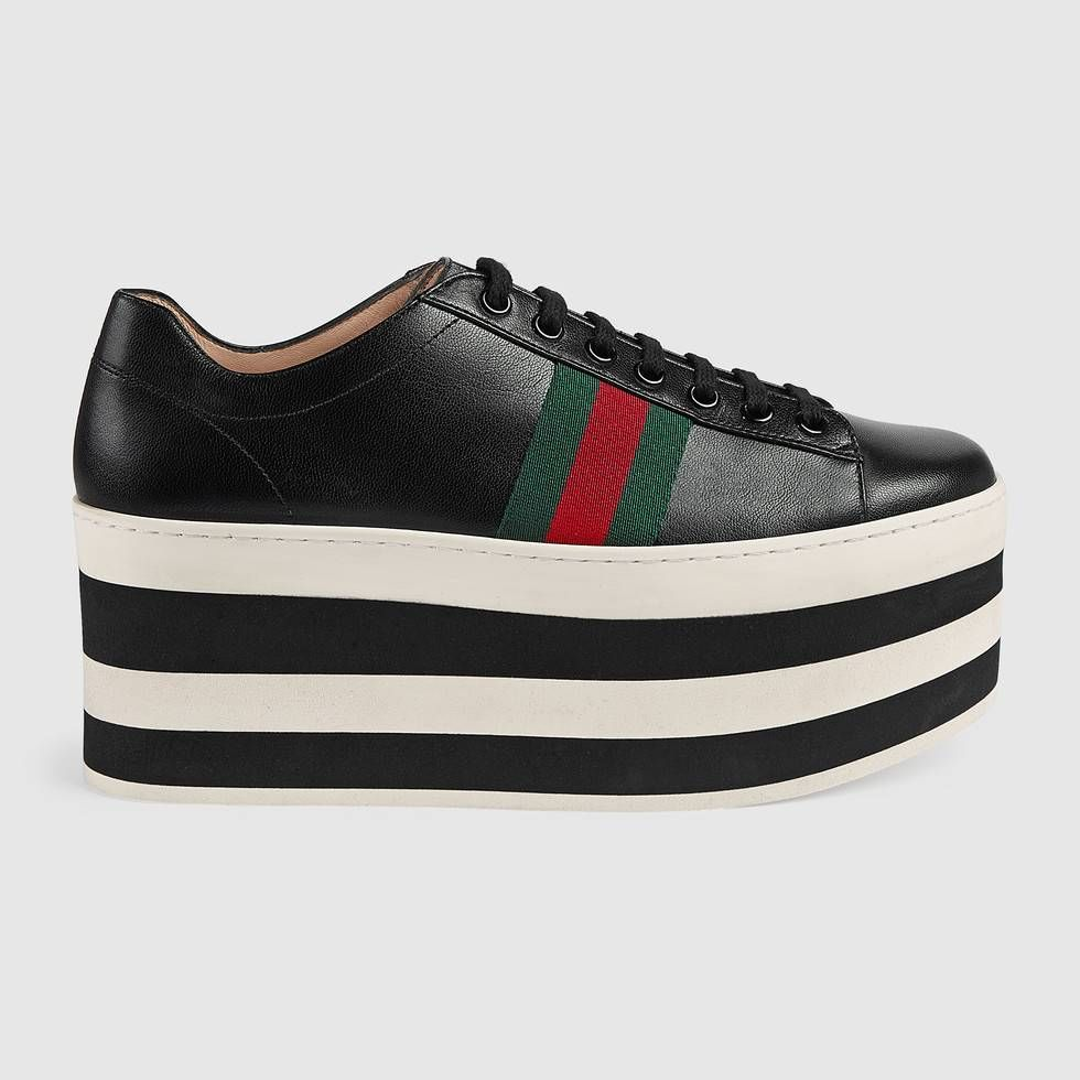 6ddc50edfc4 GUCCI Leather Low-Top Platform Sneaker.  gucci  shoes  women s ...