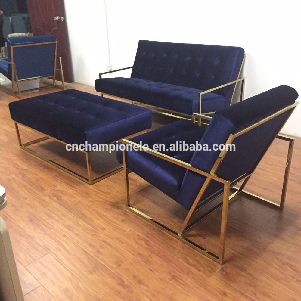 Gold Finger Stainless Steel Frame Sofa