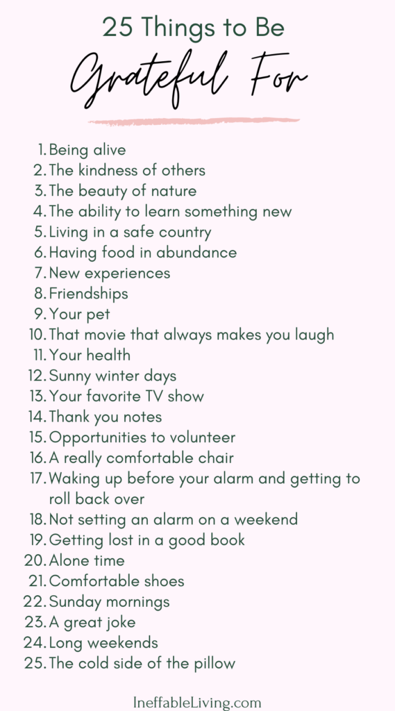 Daily Gratitude Ideas: 10 Ways to Practice Gratitude Every Day - Ineffable Living