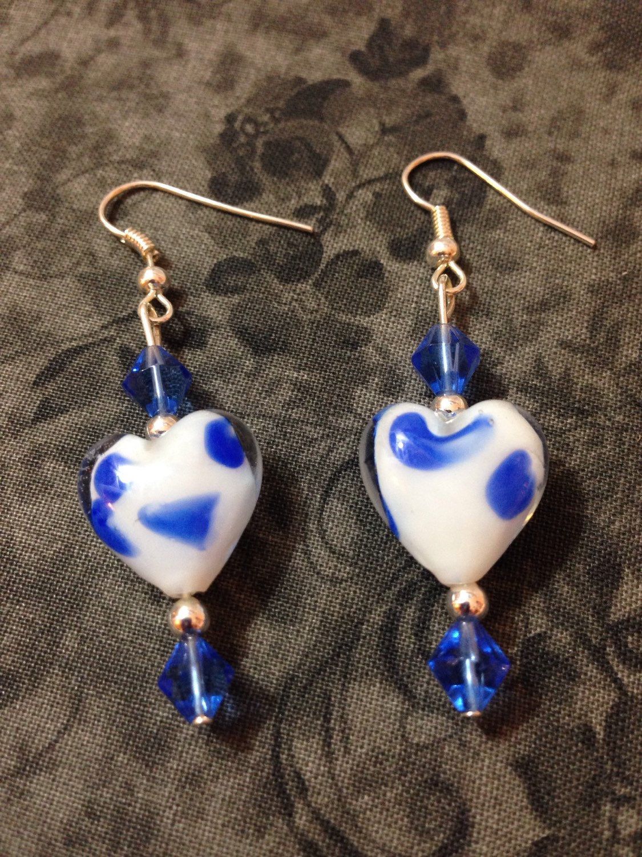 A personal favorite from my Etsy shop https://www.etsy.com/listing/236179098/glass-heart-dangle-earrings