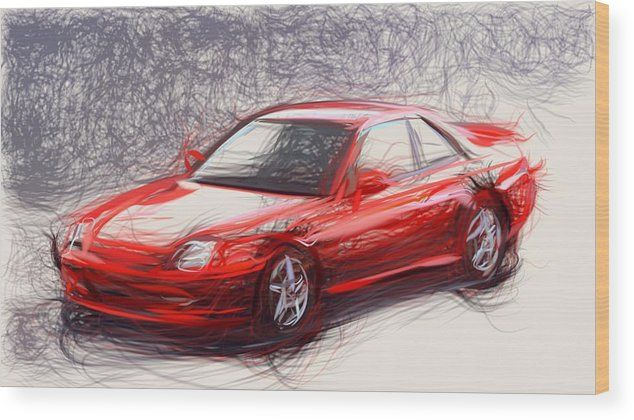 12 Honda Prelude Draw Carstoon Concept Wood Print By Carstoon Com Bring This Artwork To Life With The Texture And Added Dep In 2020 Wood Print Honda Prelude Art Prints