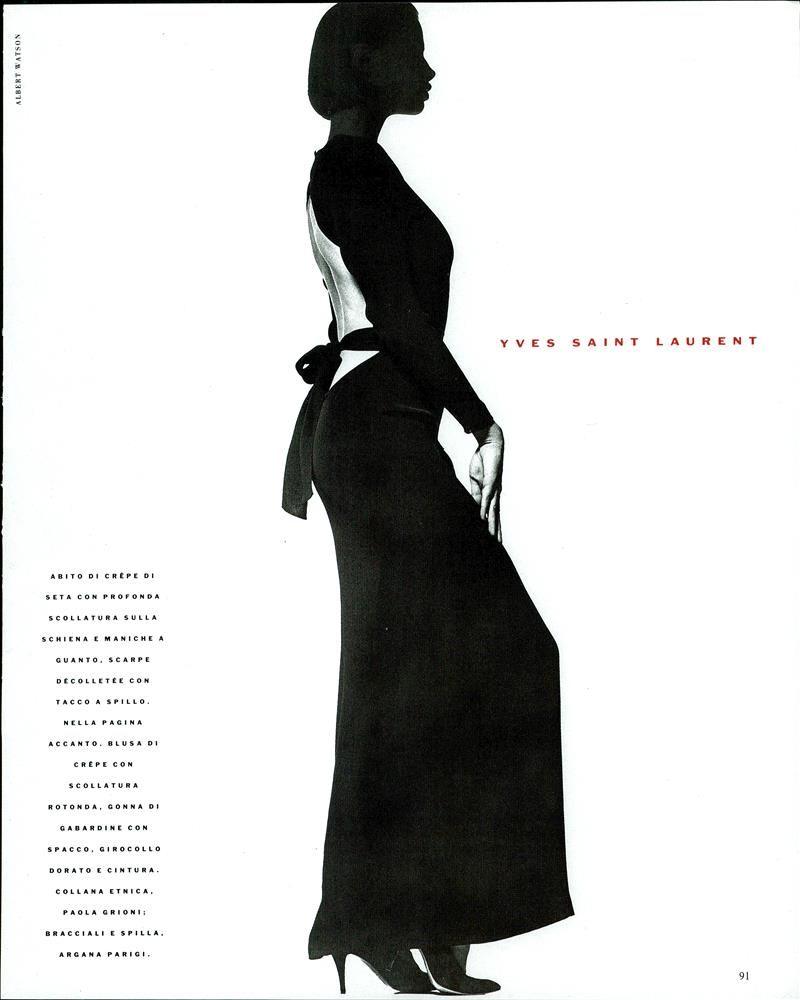 "Vogue Italia February 1989 ""Imprevedibile"" Model: Unknown Photographer: Albert Watson Hair: Franco Della Casa Makeup: Michel Voyski"