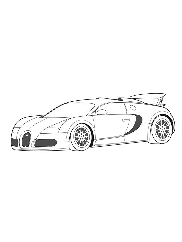 Coloring Pages Of A Bugatti Bugatti Is An Automotive Company That Produces Cars With Extraordinary Capabilities The Company Located Buku Mewarnai Warna Buku