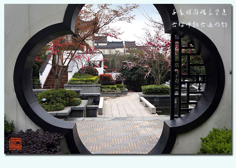 The modern Chinese landscape design traditional cultural
