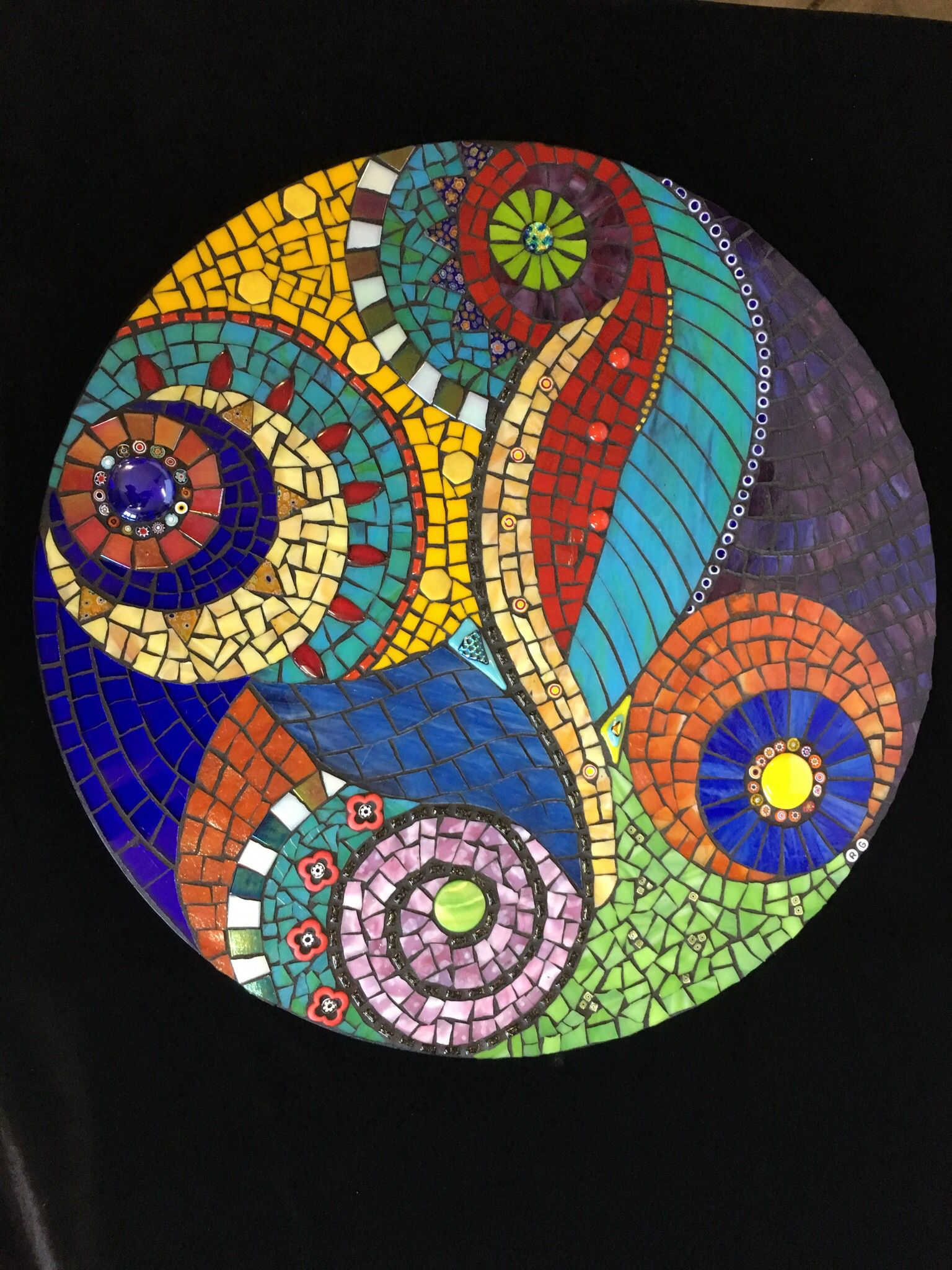 Paradise Stained Glass Mosaic Mandala Vidrio En Mosaico