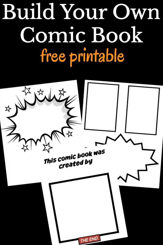 Cool Comic Book Templates For Kids  Free Printable Comic And
