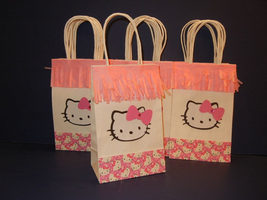 Hello Kitty Favor Bags Pink Hello Kitty Theme by lisamarDesigns, $24.00