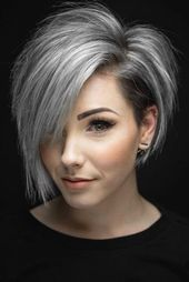 33 Coole Möglichkeiten, wie Sie Ihr kurzes graues Haar tragen | Trend Bob Frisuren 2019