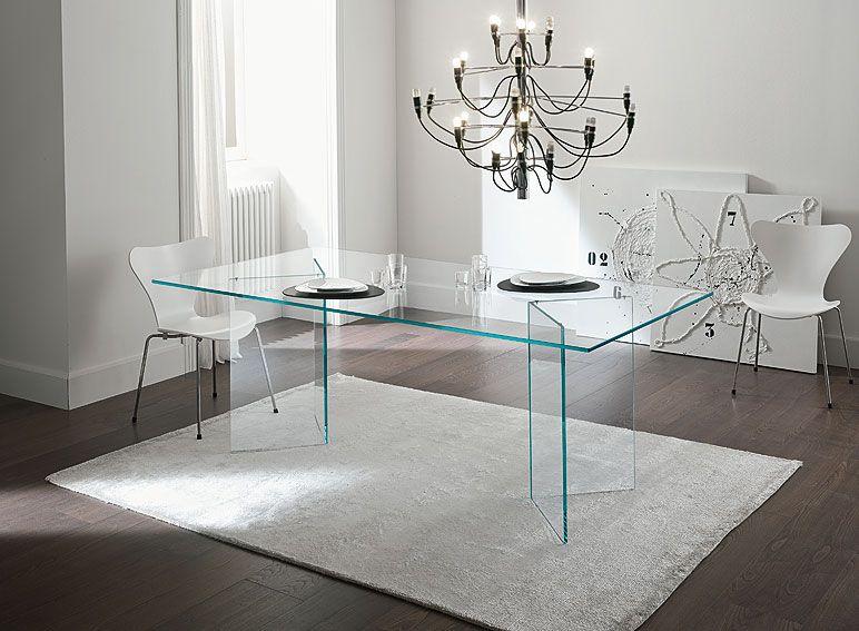 Mesa de comedor de cristal Bacco Material: Cristal Material ...
