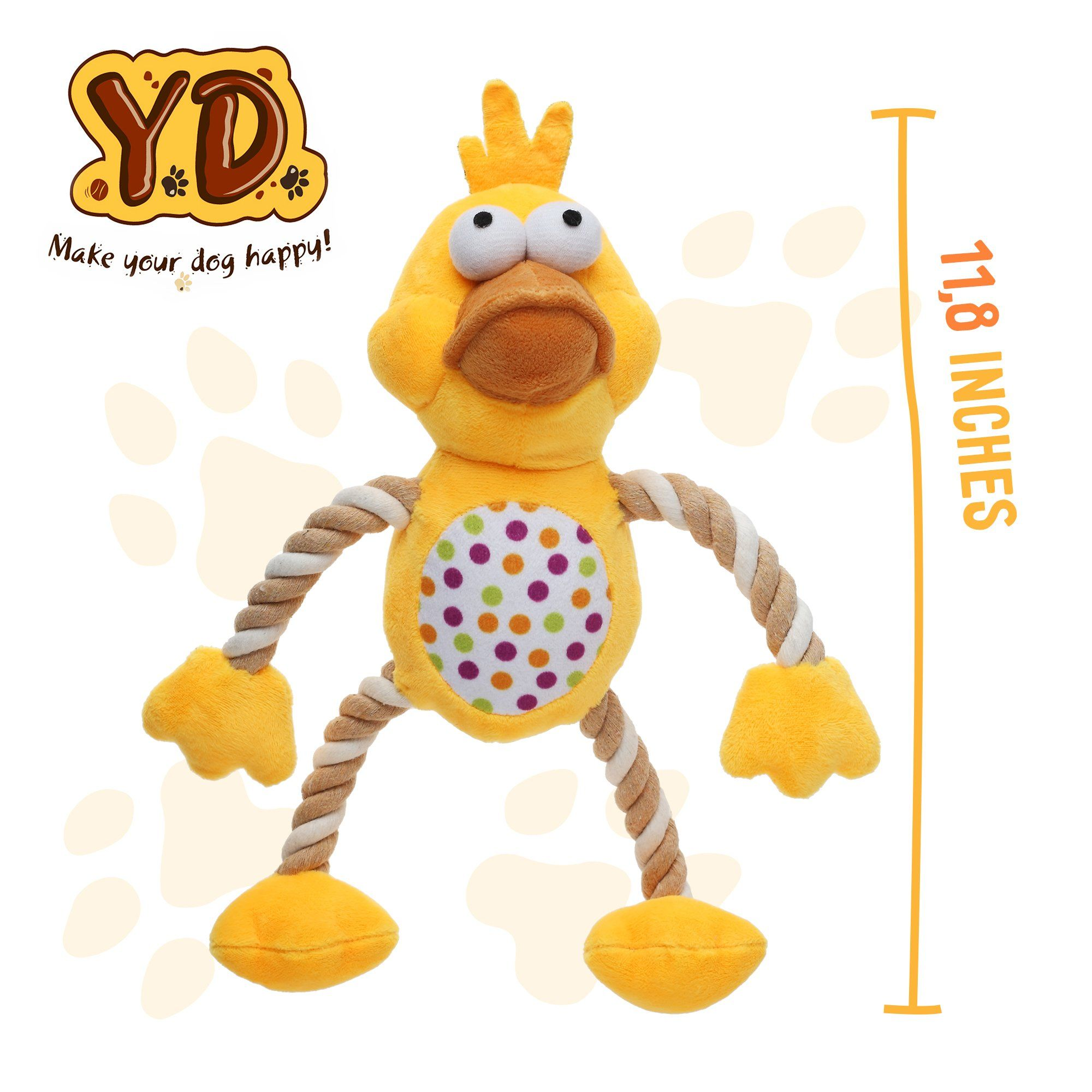 Dog Toys Squeaky Duck Durable Soft Plush Pet Toy