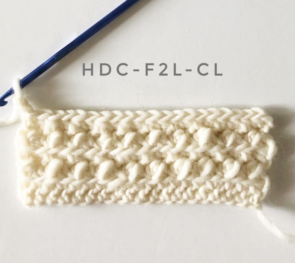 Photo of How to Work a Half Double Crochet Front Two Loop Cluster Stitch