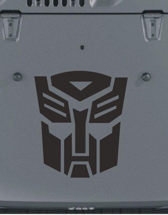"""Vinyl Decal Sticker Car GLOSS or MATTE Transformers BumbleBee Logo 2/"""" Van!"""