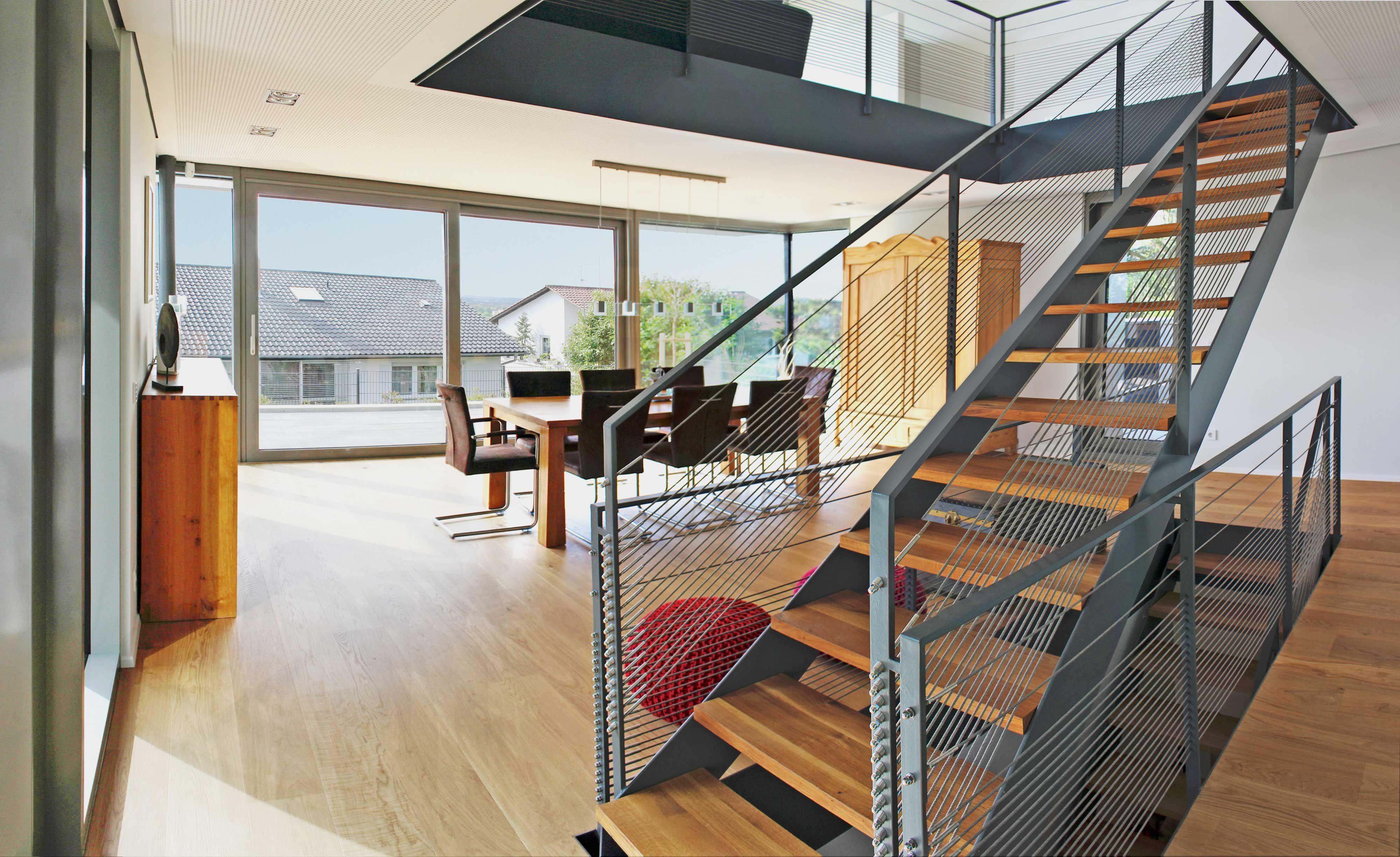 Weber Und Partner verbindung esszimmer wohngallerie stahltreppe einfamilienhaus