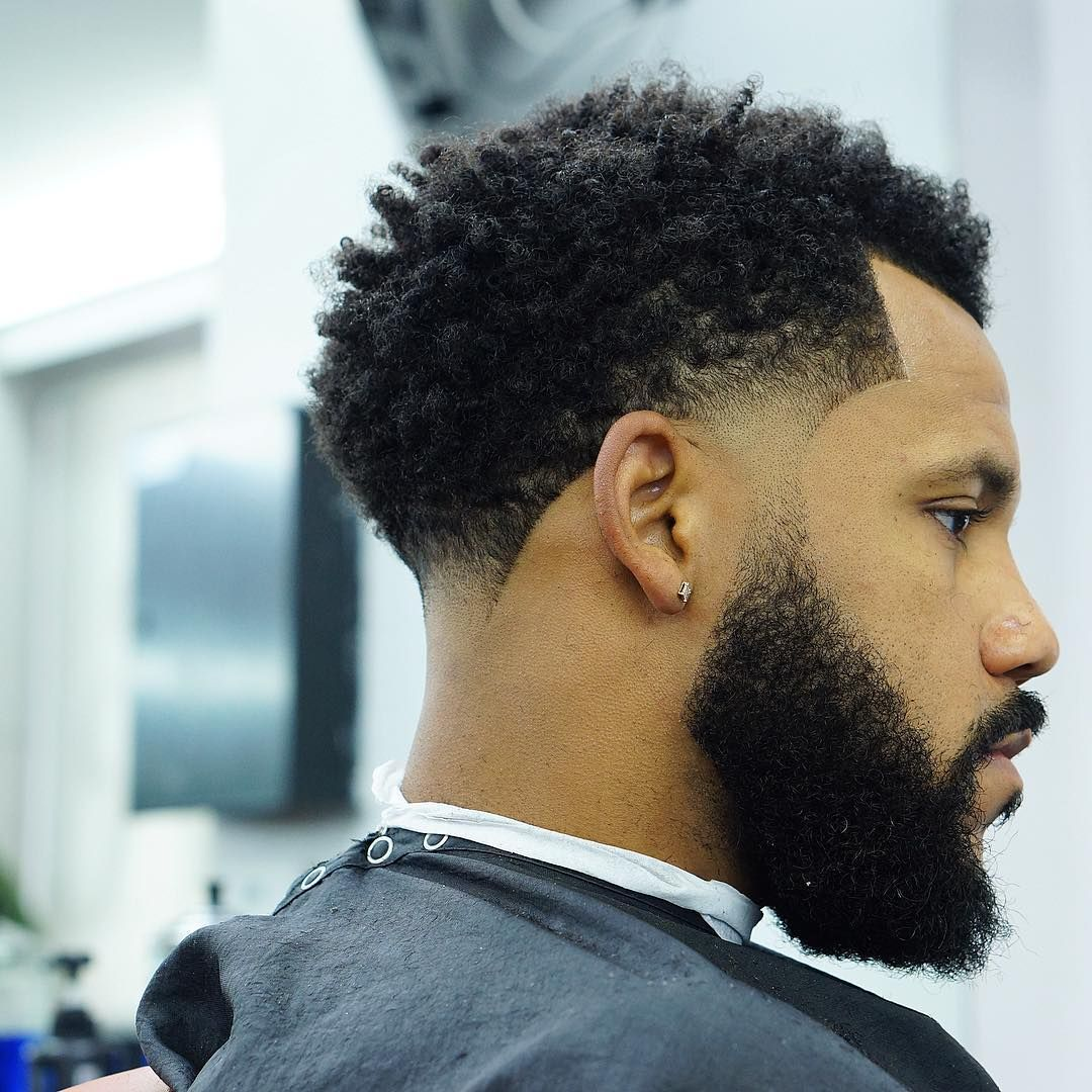 High taper fade for curly hair blackhairstylesmen black