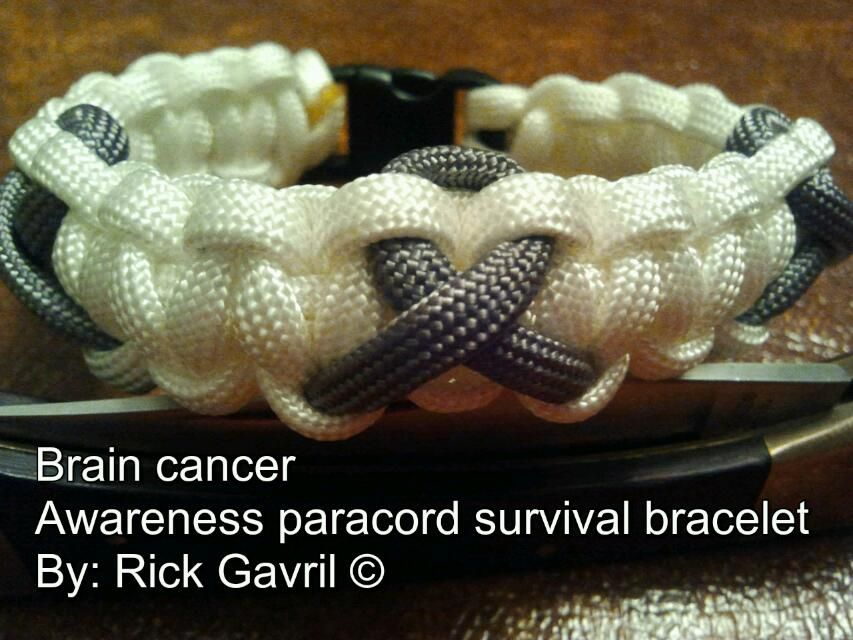 Brain Cancer Awareness Paracord Survival Bracelets 7