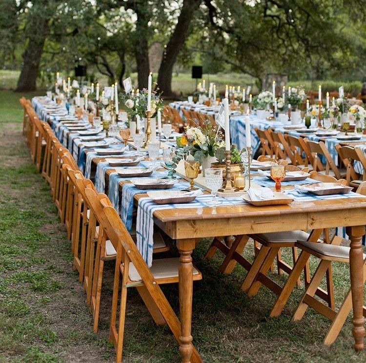 Horizontal Fabric Wood Plank Runner Banquet Tables Table Arrangements Wedding Eclectic Wedding