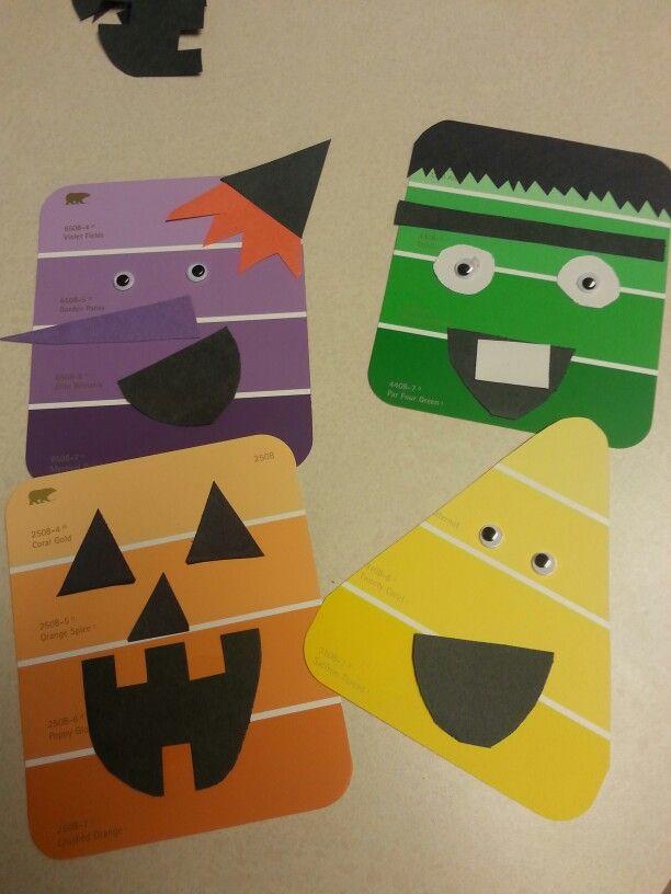 Paint chip Halloween fun!