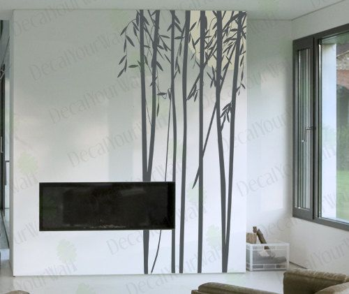 Tree Wall Decal Bamboo Decals Living Room Bedroom Stickers Large - Vinyl wall decals bamboo