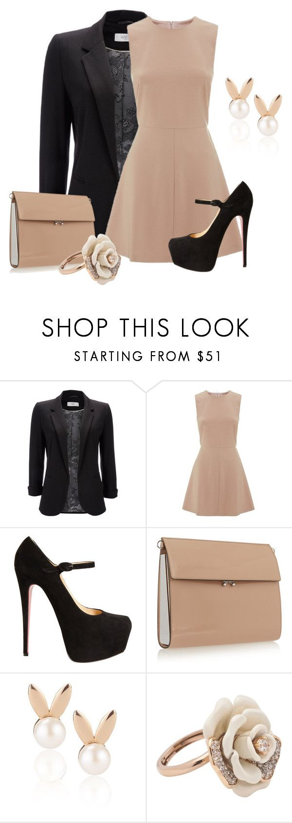 """Toast"" by kylen91 ❤ liked on Polyvore featuring Wallis, RED Valentino, Christian Louboutin, Marni, Aamaya by priyanka and Juicy Couture"