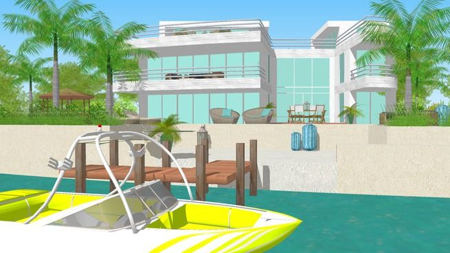 Staff Pick 3D Model of Villa Florida | Model Sketchup