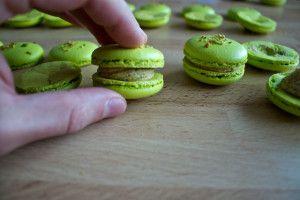 Will be making these soon!   http://www.roadtopastry.com/blog/recipes/macarons/recipe-pistachio-macarons-italian-meringue-buttercream
