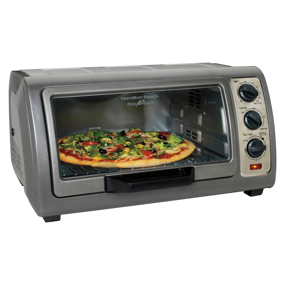 Hamilton Beach 6 Slice Easy Reach Toaster Oven With Convection