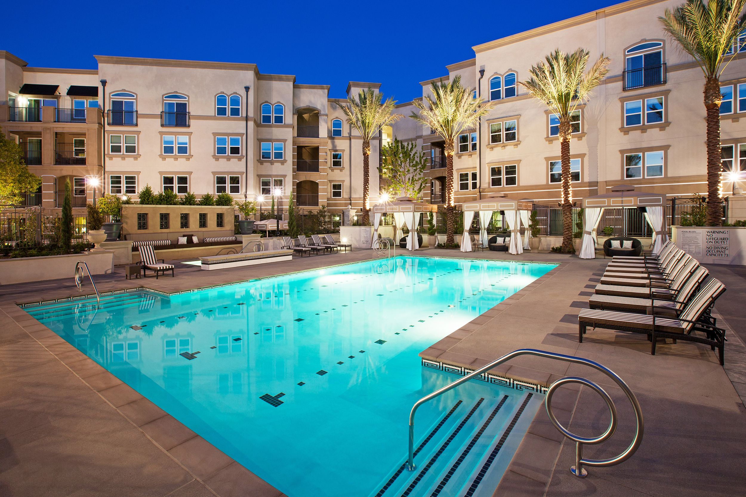 Enjoy A Night Swim At The Carlyle Pool Apartment Pool California Apartment 2 Bedroom Apartment