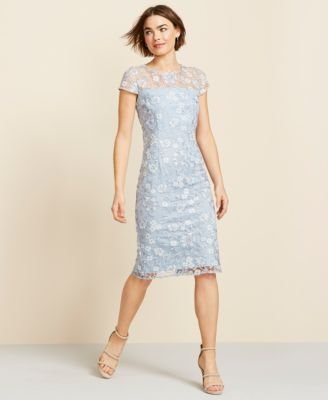 bfed9aef66 Alex Evenings Sequin Floral-Embroidered Shift Dress in 2019 ...