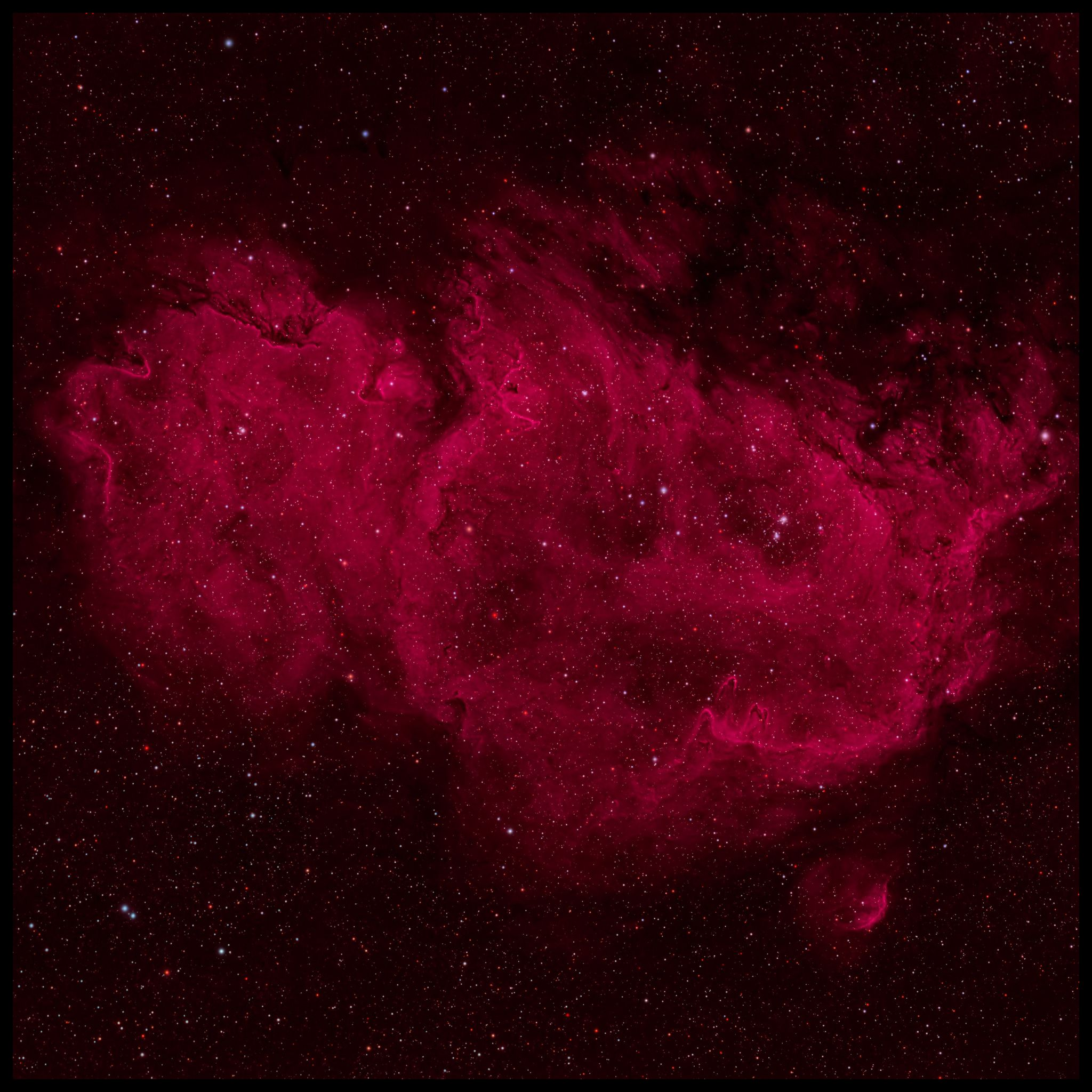 Stars are forming in the Soul of the Queen of Aethopia. A large star forming region called the Soul Nebula can be found in the direction of the constellation Cassiopeia, who Greek mythology credits as the vain wife of a King who ruled lands surrounding the upper Nile river. The Soul Nebula houses several open clusters of stars, a large radio source known as W5, and huge evacuated bubbles formed by the winds of young massive stars.