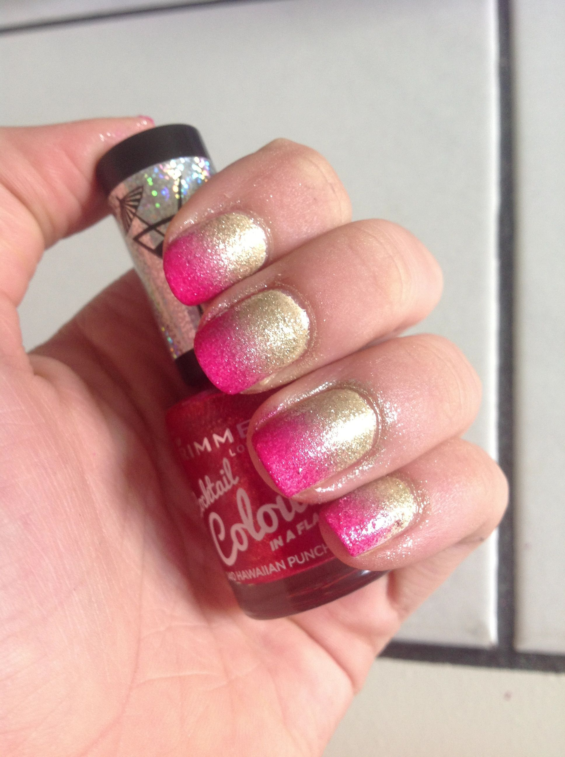 Pink-gold ombre nails! - Nailss | Pinterest